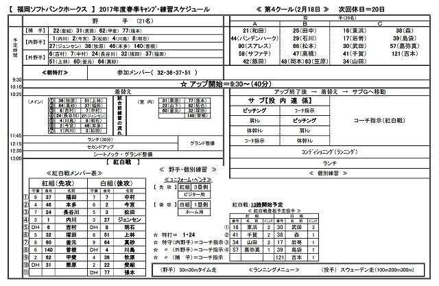 ソフトバンクホークス 宮崎キャンプ