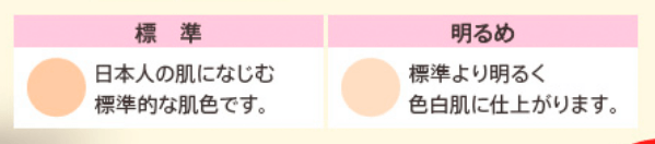 マナラBBリキッドバーの色の選び方